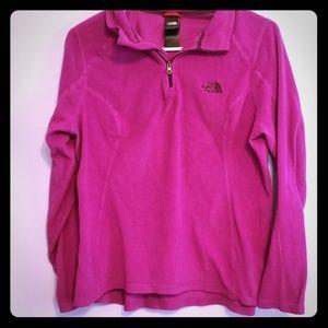 The North Face Quarter Zip Purple Pullover Size M